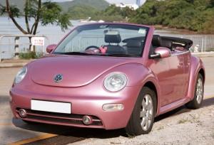 甲蟲車(開篷 粉紅色) 4小時 $2380 OT $500/小時