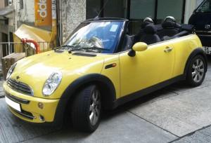 Mini Cooper (開篷 黃色) 4小時 $2880 OT $600/小時
