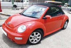 甲蟲車(開篷 橙紅色) 4小時 $2380 OT $500/小時